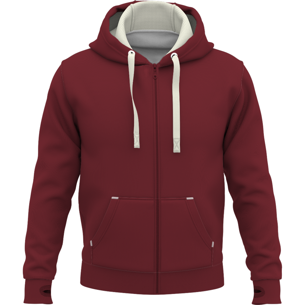 SWEAT DELUXE ZIP Bordeaux Rouge