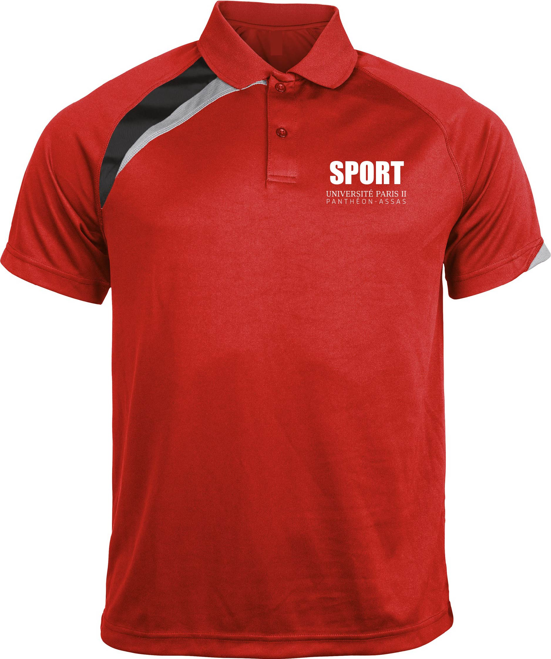 Polo Sport AS Paris II - JUDO Sporty Red / Black / Storm Grey Rouge