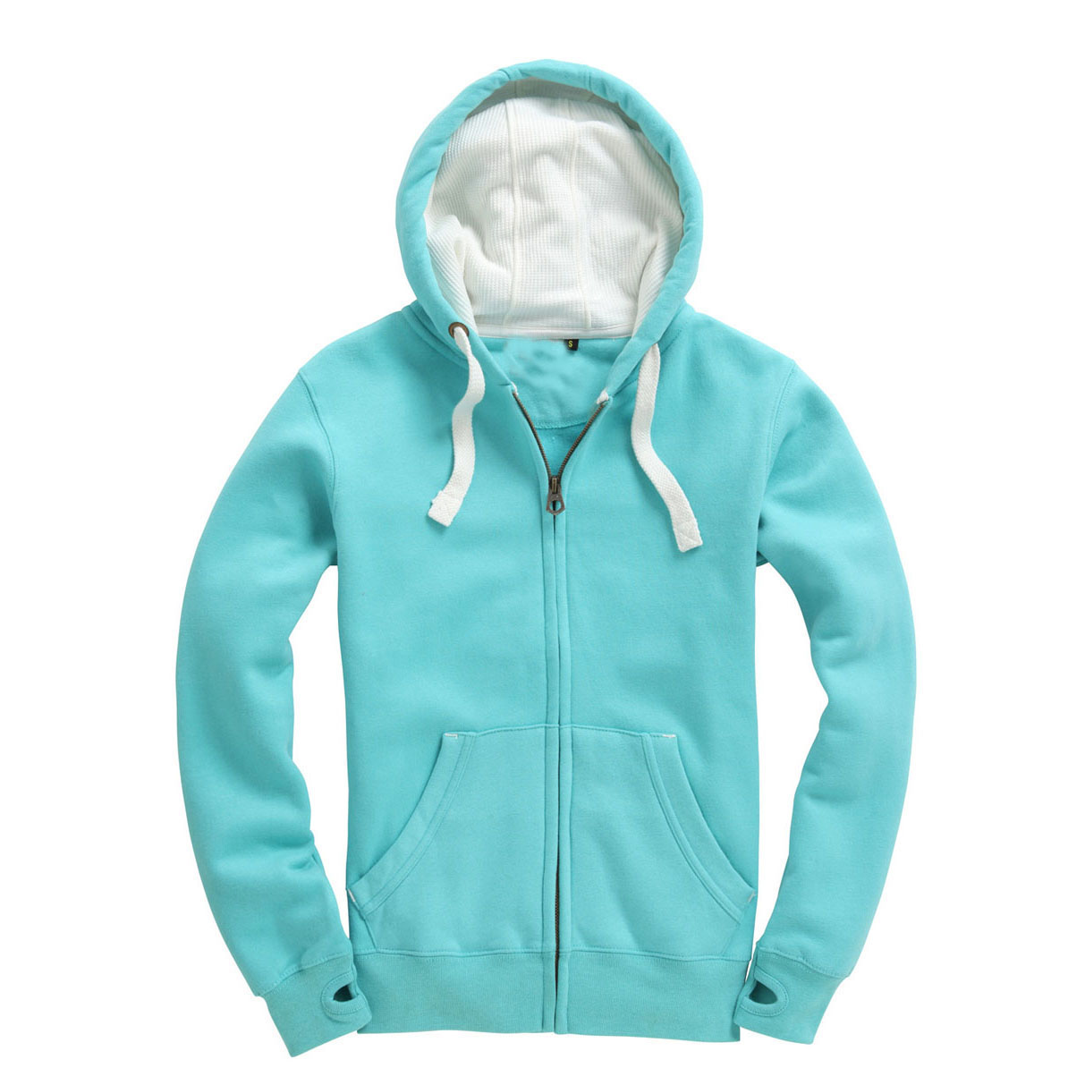 SWEAT DELUXE ZIP Bleu Lagoon Bleu