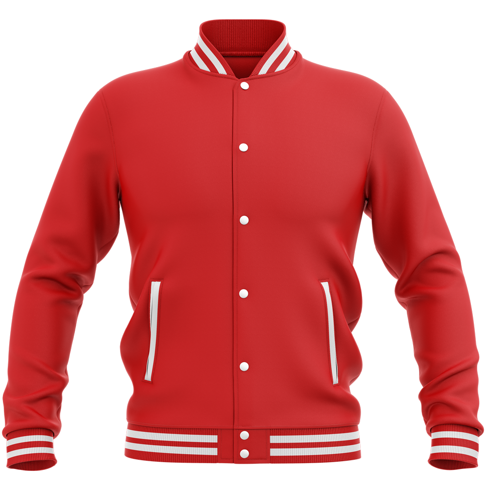 Teddy - Veste Varsity College Unie Fire Red Rouge