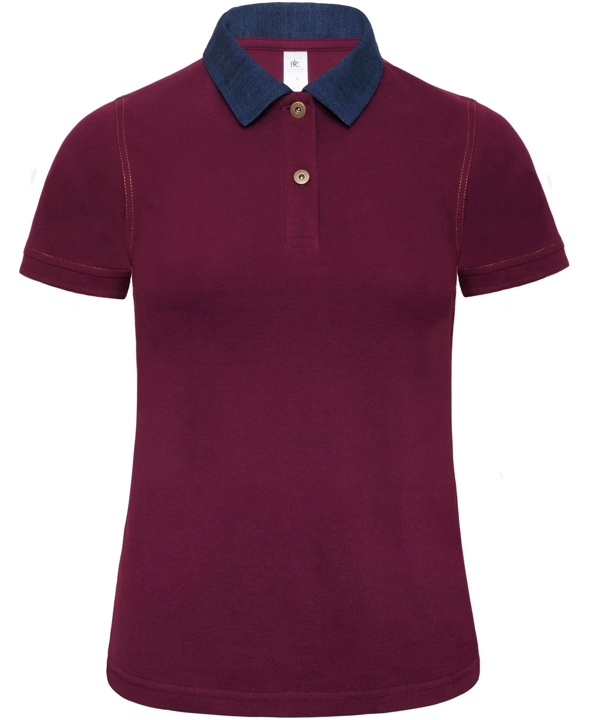 POLO FEMME DNM FORWARD Denim / Burgundy Bleu